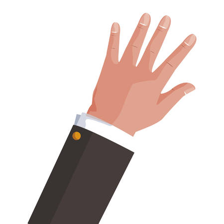 hand businessman isolated icon vector illustration design Ilustrace