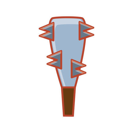 bludgeon of video games isolated icon vector illustration design