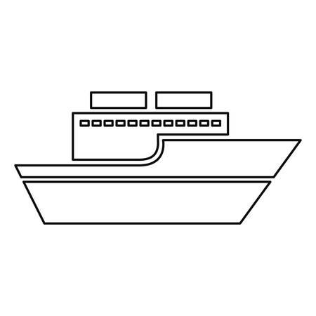 boat transport icon on white background vector illustration Foto de archivo - 129805137