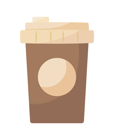 plastic container of coffee isolated icon vector illustration design