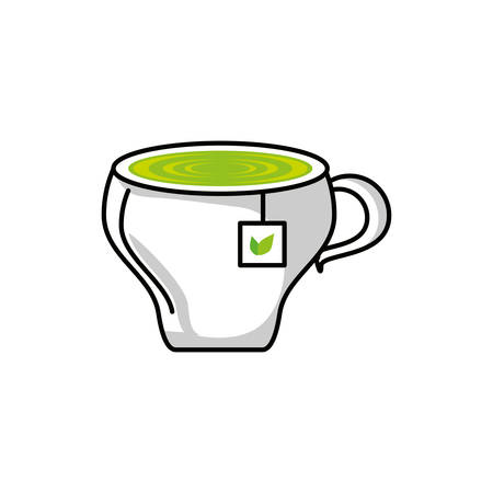 tea herb cup isolated icon vector illustration design Ilustração
