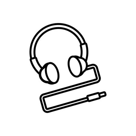 headphone device nineties retro vector illustration design Illusztráció