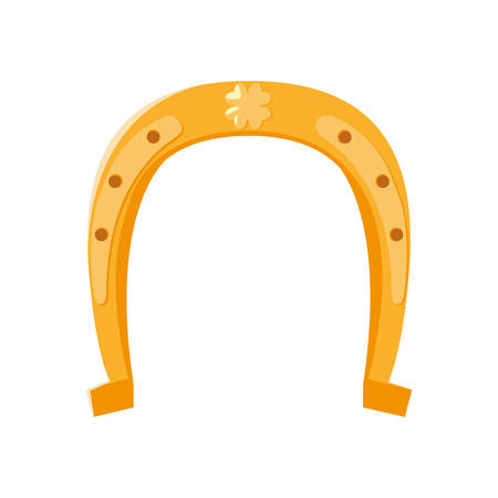 horseshoe lucky isolated icon vector illustration design