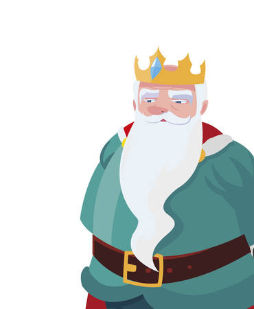 king royal avatar character vector illustration design