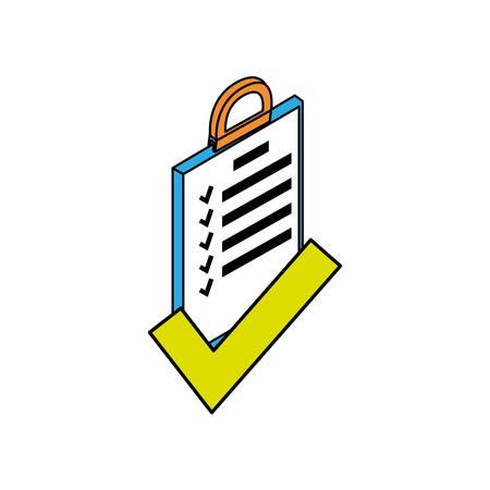 clipboard checklist document icon vector illustration design Çizim