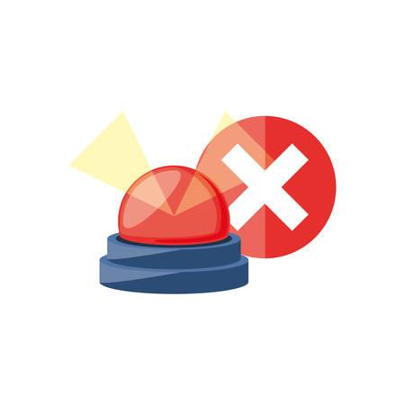 alarm light emergency isolated icon vector illustration design Иллюстрация