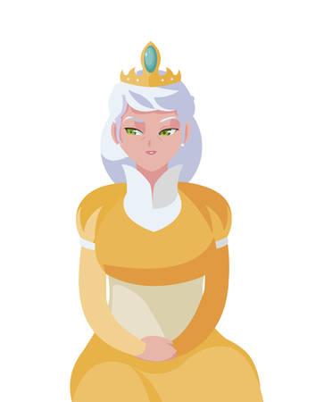 beautiful queen avatar character vector illustration design