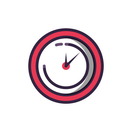 clock time isolated icon vector illustration design