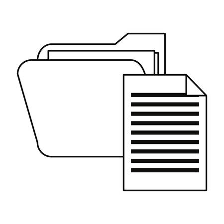folder file cybersecurity data protection vector illustration outline