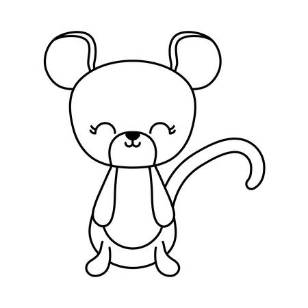 cute mouse animal isolated icon vector illustration design