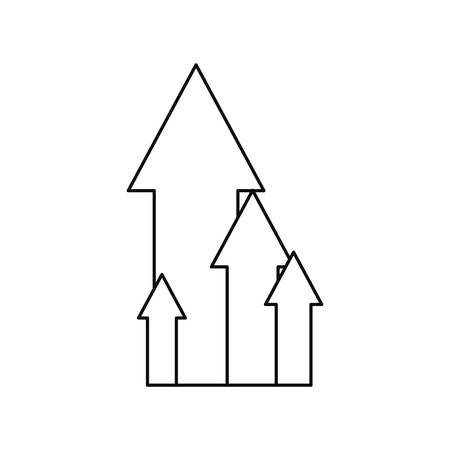 growth arrows chart report business vector illustration Ilustrace
