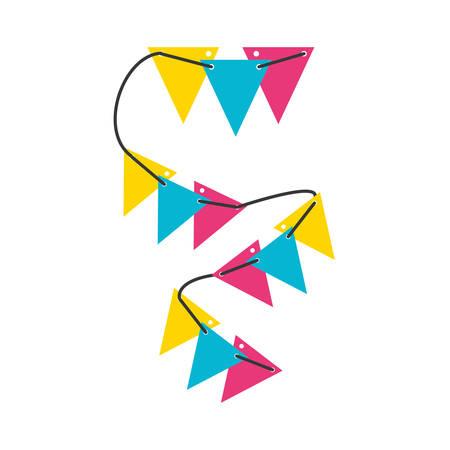 garlands hanging isolated icon vector illustration design Иллюстрация