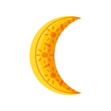 ramadan kareem moon crescent vector illustration design