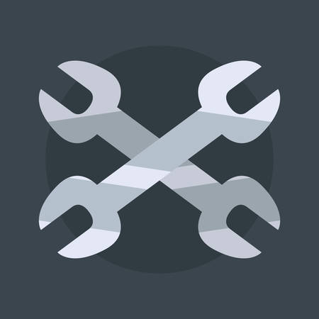 crossed wrenches tools labour day vector illustration Foto de archivo - 129807120