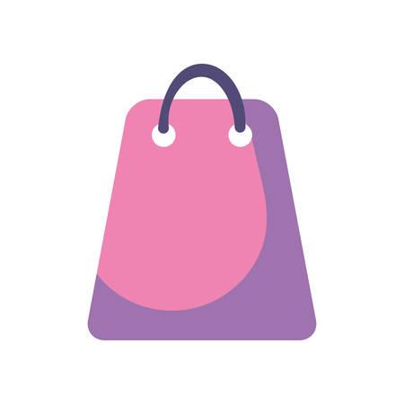 online shopping bag on white background vector illustration