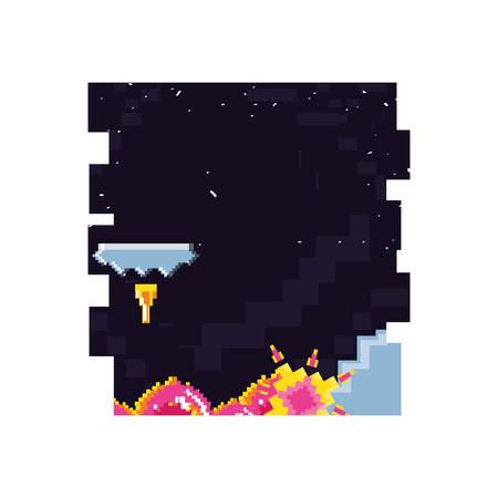 video game pixelate scene vector illustration design Иллюстрация