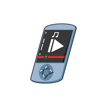 music player device isolated icon vector illustration design