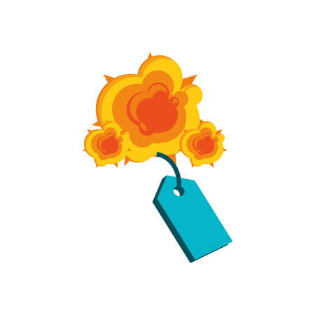 tag commercial with explosion isolated icon vector illustration design Archivio Fotografico - 129807326