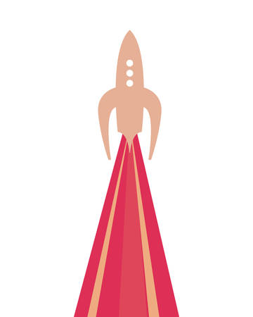 rocket launch travel galaxy vector illustration design Illusztráció
