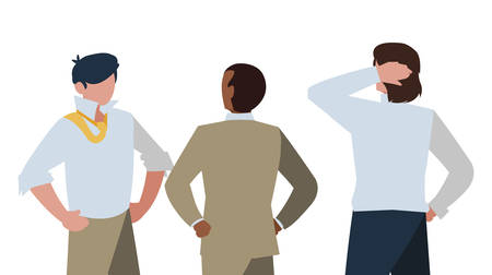 elegant businessmen with different positions characters vector illustration design Archivio Fotografico - 129807351