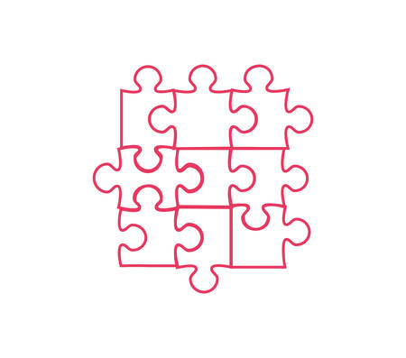set of puzzle pieces isolated icon vector illustration design