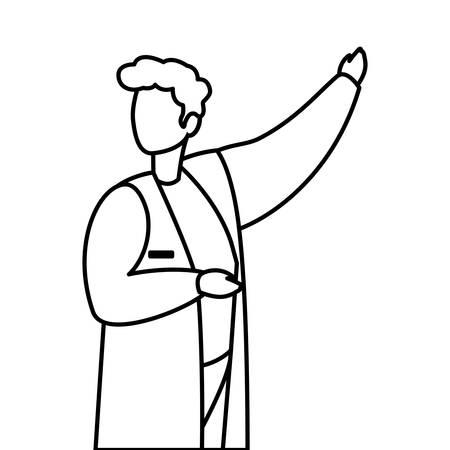 male medicine worker with uniform vector illustration design Archivio Fotografico - 129807363