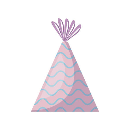 party hat decorative icon vector illustration design