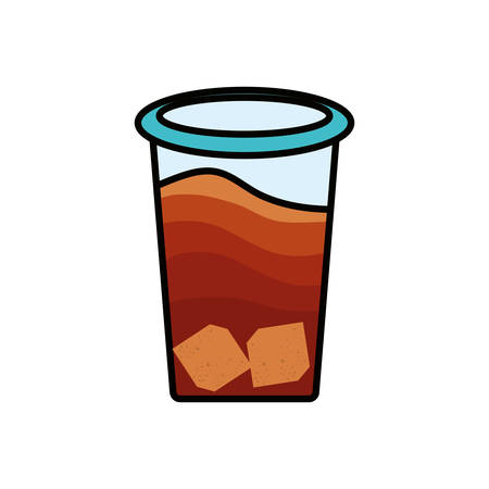 container plastic of tea herb isolated icon vector illustration design