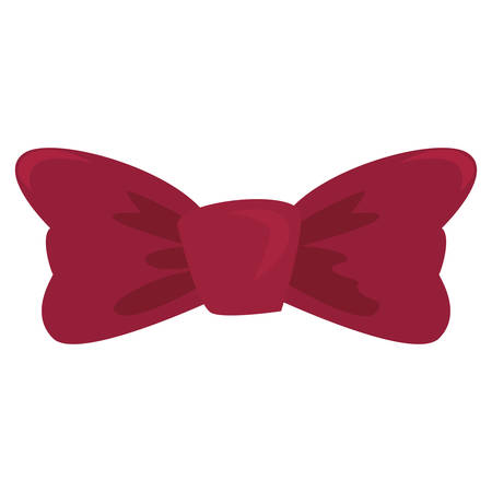 red bow tie wear classic fashion on white background vector illustration