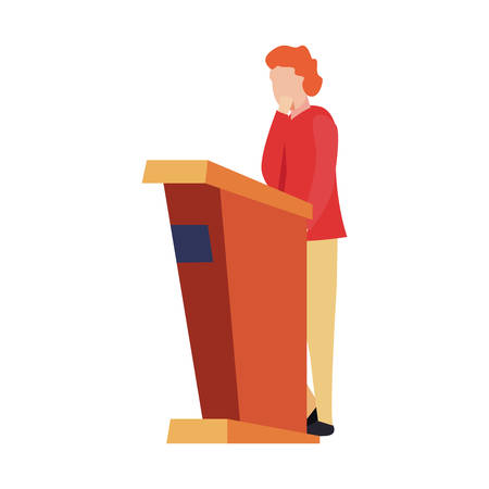 man standing in the stand vector illustration  イラスト・ベクター素材