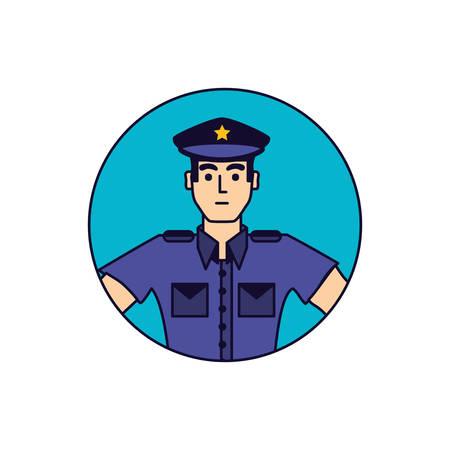 police officer in frame circular vector illustration design Иллюстрация