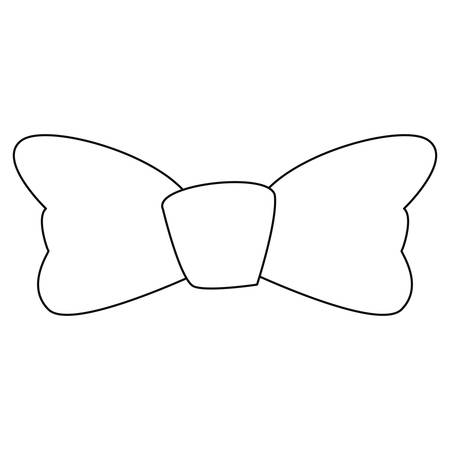 bow tie wear classic fashion on white background vector illustration