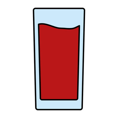 glass with tropical juice drink vector illustration design  イラスト・ベクター素材