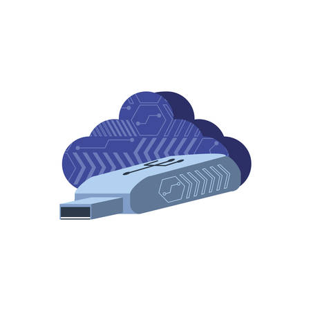 cloud computing with device usb vector illustration design Illustration
