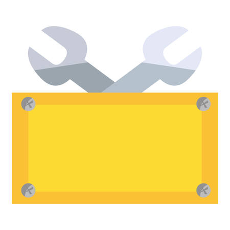wrenches construction board tool vector illustration design Иллюстрация