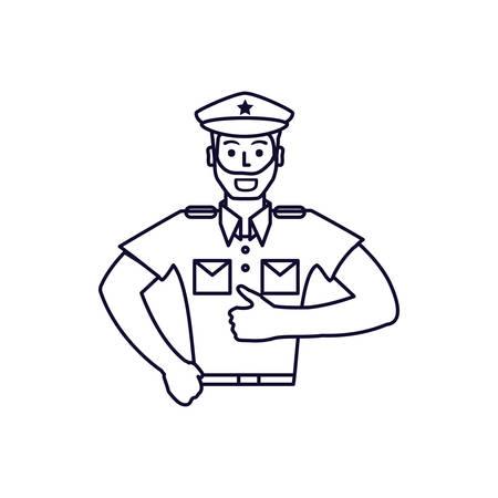 police officer avatar character vector illustration design Иллюстрация