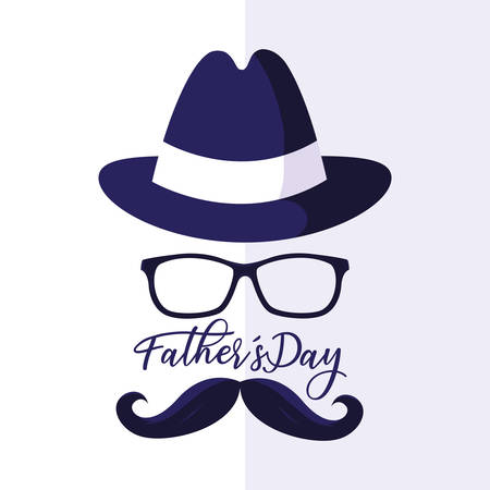 happy father day card with gentleman face vector illustration design Archivio Fotografico - 129860622