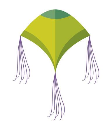 kite flying isolated icon vector illustration design  イラスト・ベクター素材