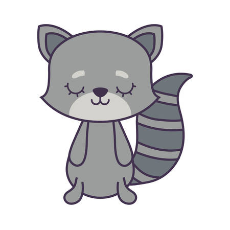 cute cat animal isolated icon vector illustration design Ilustrace