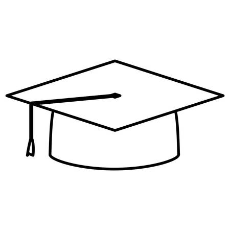 hat graduation isolated icon vector illustration design Reklamní fotografie - 129863026