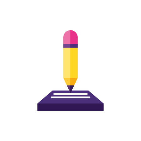 pencil supply writing icon vector illustration design