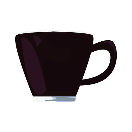 coffee cup icon on white background vector illustration