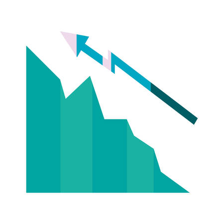 business finance chart arrow increase vector illustration Ilustrace