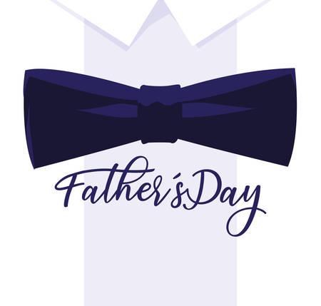 happy father day card with bow tie vector illustration design Archivio Fotografico - 129815265