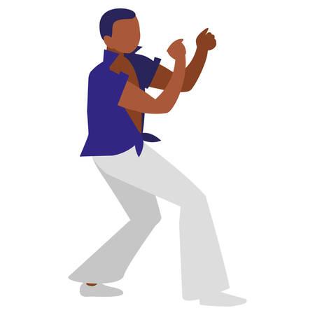 black tropical musician character vector illustration design Ilustrace