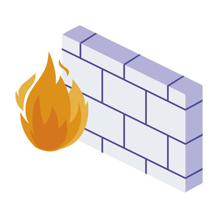firewall protection isolated icon vector illustration design Illustration