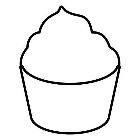 sweet cupcake bakery icon vector illustration design Illustration