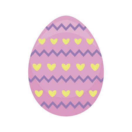 decorated egg of easter vector illustration design