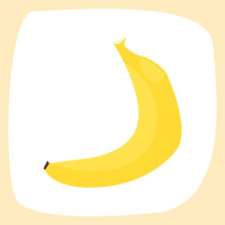 summer time holiday banana poster vector illustration