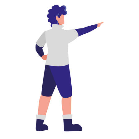 adventurous man avatar character vector illustration design Ilustração